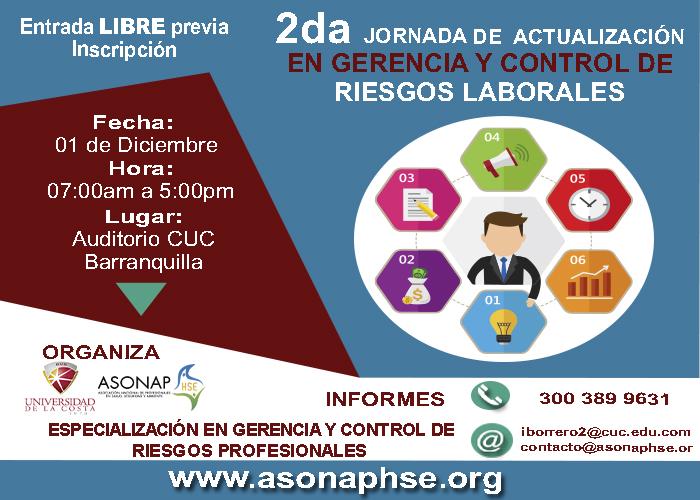 2da Jornada de Actualización en Gerencia y Control de Riesgos Laborales