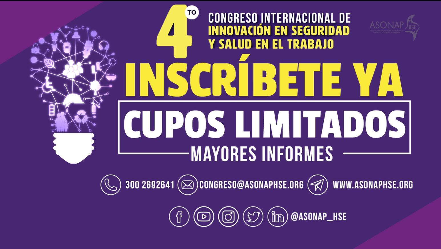 INSTRUCCIONES DE PAGO ENTRADAS DEL CUARTO CONGRESO INTERNACIONAL DE INNOVACIÓN EN SEGURIDAD Y SALUD EN EL TRABAJO